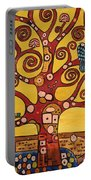 Klimt Study Tree Of Life Portable Battery Charger