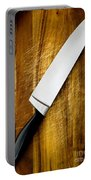 Knife On Chopping Board Portable Battery Charger