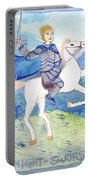 Knight Of Swords Portable Battery Charger