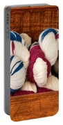 Knitting Yarn In Patriotic Colors Portable Battery Charger
