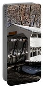 Knox Bridge In The Snow Portable Battery Charger