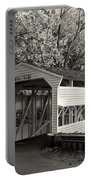 Knox Covered Bridge In Sepia Portable Battery Charger
