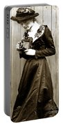 Kodak Girl With A Folding Camera Circa 1918 Portable Battery Charger