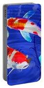 Kohaku Koi In Deep Blue Pool Portable Battery Charger
