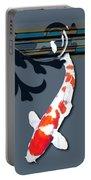 Kohaku Koi With Decorative Flourish Portable Battery Charger