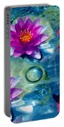 Koi And The Water Lilies Portable Battery Charger