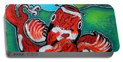 Koi Fish And Water Lily Portable Battery Charger