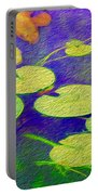 Koi Fish Under The Lilly Pads  Portable Battery Charger by Jon Neidert