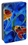 Koi Pond 2 - Liquid Fish Love Art Portable Battery Charger