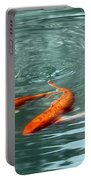 Koi With Sky Reflection Portable Battery Charger