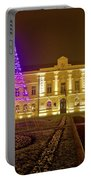 Koprivnica Night Street Christmas Scene Portable Battery Charger