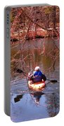 Kyaking On A Lake In Spring Portable Battery Charger