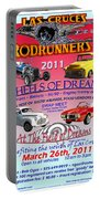 L C Rodrunner Car Show Poster Portable Battery Charger