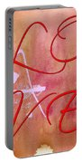 L O V E Script With Heart Portable Battery Charger