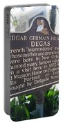 La-012 Edgar Germain Hilaire Degas Portable Battery Charger
