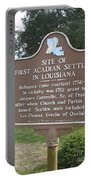 La-029 Site Of First Acadian Settlers In Louisiana Portable Battery Charger