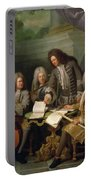 La Barre And Other Musicians, C.1710 Oil On Canvas Portable Battery Charger