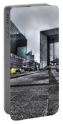 La Defense In The Rain Portable Battery Charger