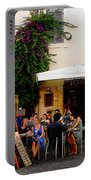 La Dolce Vita At A Cafe In Italy Portable Battery Charger
