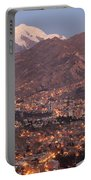 La Paz Skyline At Sundown Portable Battery Charger