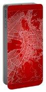 La Paz  Street Map - La Paz Bolivia Road Map Art On Color Portable Battery Charger