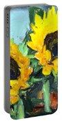 La Peinture Impressionniste De Tournesol Portable Battery Charger