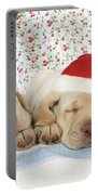 Labrador Puppy Dogs Wearing Christmas Portable Battery Charger