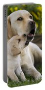 Labrador With Puppy Portable Battery Charger