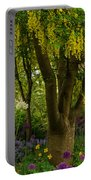 Laburnum Tree In Bloom Portable Battery Charger