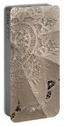Lace Parasol In Sepia Portable Battery Charger