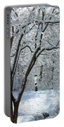Lacy Snowfall Portable Battery Charger