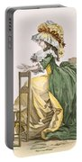 Ladies Elaborate Gown, Engraved Portable Battery Charger