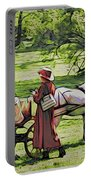 Ladies In The Meadow Portable Battery Charger