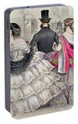 Ladies Wearing Crinolines At The Royal Italian Opera Portable Battery Charger