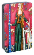 Lady And The Unicorn La Pointe Portable Battery Charger