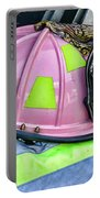 Lady Firefighter Portable Battery Charger