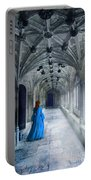 Lady In A Corridor Portable Battery Charger