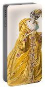 Lady In Grand Domino Dress To Wear Portable Battery Charger