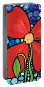 Lady In Red 2 - Buy Poppy Prints Online Portable Battery Charger by Sharon Cummings