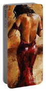 Lady In Red /24 Portable Battery Charger