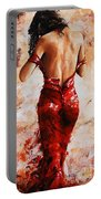 Lady In Red #24 Large  Portable Battery Charger