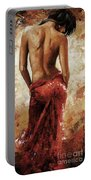 Lady In Red 27 Soft Color Portable Battery Charger