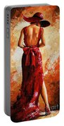 Lady In Red  39 Portable Battery Charger