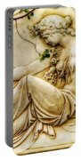 Lady In Robe And Roses Portable Battery Charger