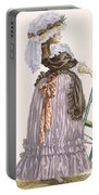 Lady Leaning On Chair, Engraved Portable Battery Charger