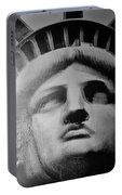 Lady Liberty In Black And White1 Portable Battery Charger