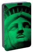 Lady Liberty In Copper Green Portable Battery Charger