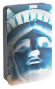 Lady Liberty In Negative Portable Battery Charger