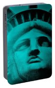 Lady Liberty In Turquoise Portable Battery Charger