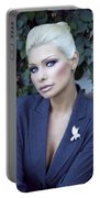 Lady Of Solitude Palm Springs Portable Battery Charger by William Dey